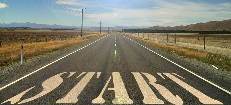 a word start on the road